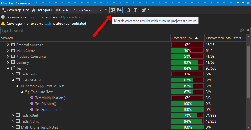 dotCover is not showing Code Coverage –  NET Tools Support | JetBrains